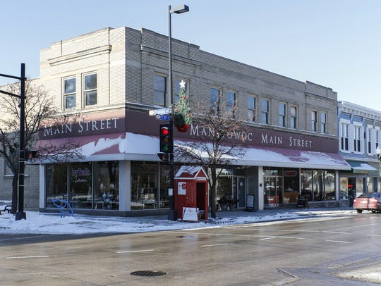 Downtown Manitowoc.