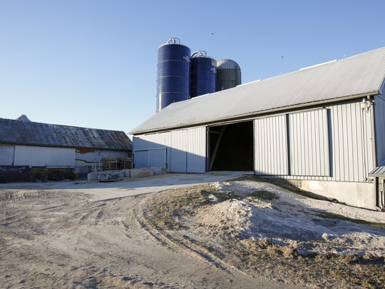 A view of the Mickes Dairy Farm entrance Tuesday, Jan.