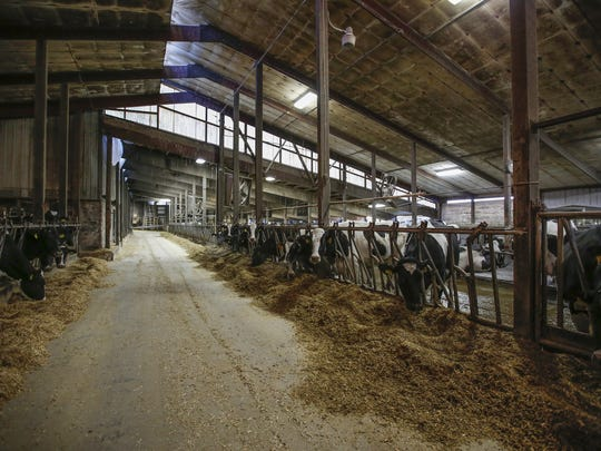 One of the barns on Micke Farms Tuesday, Jan. 4, in