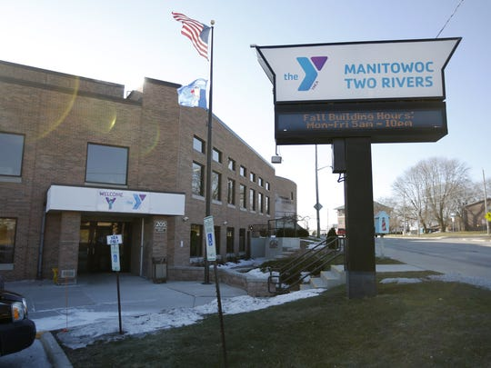 The Manitowoc-Two Rivers YMCA entrance Tuesday, Jan.