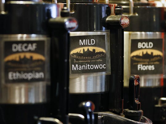 Manitowoc Coffee named its best blend after the town it served. Photo taken Jan. 18.