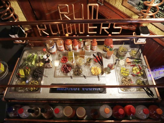 RumRunners sets up its build-your-own-Bloody Mary bar from 11 a.m. to 7 p.m. every Saturday and Sunday. Between mixes, hot sauces, garnishes and seasonings, it boasts about 75 different items for patrons to choose from.