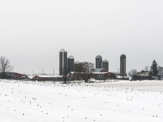 View of the Meyer Dairy Farm Thursday, Feb. 7, in Kiel.