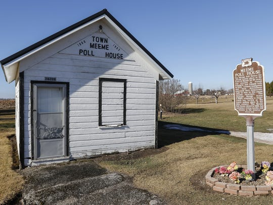 The Town of Meeme polling house Tuesday, Feb. 21, in