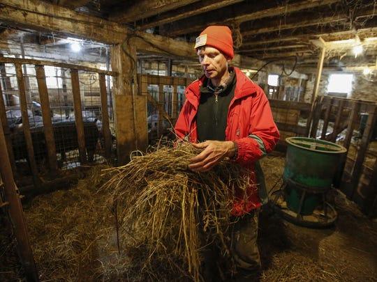 Steve Deibele, owner of Golden Bear Farms, shows the