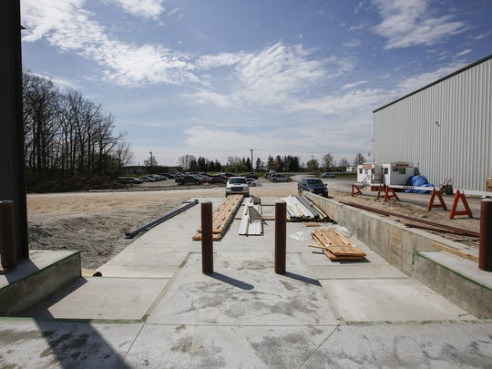 The two loading docks of the Manitowoc Tool addition May 9.