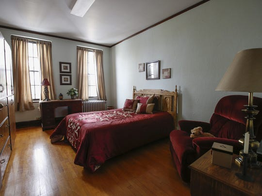 A finished room in Freedom's Gate May 9 in Manitowoc. The rooms used for the ministry were once used as nun dormitories.