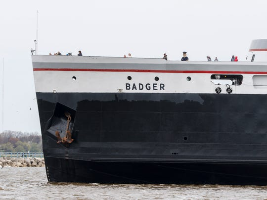 The S.S. Badger makes its first voyage of the season