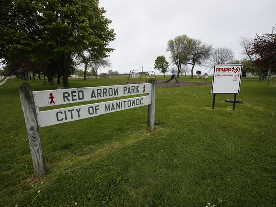The entrance to Red Arrow Park Wednesday, May. 24, 2017, in Manitowoc, Wis. Josh Clark/USA TODAY NETWORK-Wisconsin
