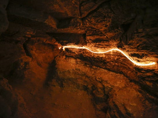 A passage in the New Hope Cave at Cherney Maribel Caves County Park June 15 in Maribel.