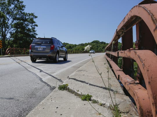 The Rapids Road bridge near downtown Manitowoc. The bridge is slated for repairs in 2019.
