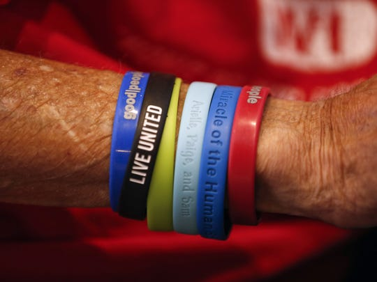 Tom Drill sports wristbands associated with some of