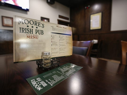 Moore's Irish Pub's dining room Oct. 25 in downtown