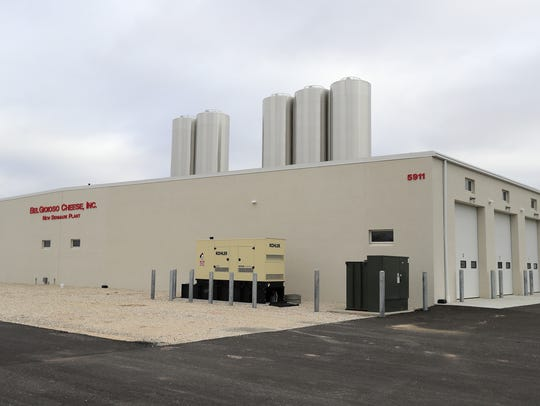 The new BelGioioso Cheese plant is shown on Wednesday