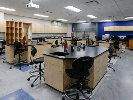 A newly renovated chemistry lab at the University of