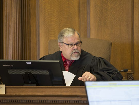 Manitowoc County Circuit Court Judge Gary Bendix presides