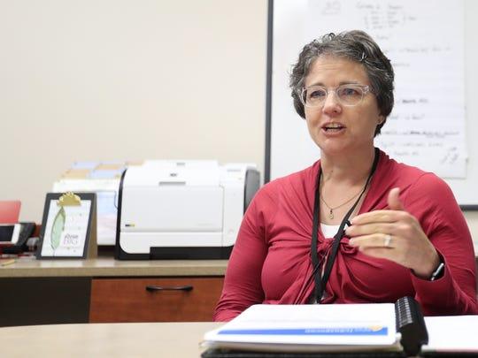 Washington Middle School principal Cindy Olson was