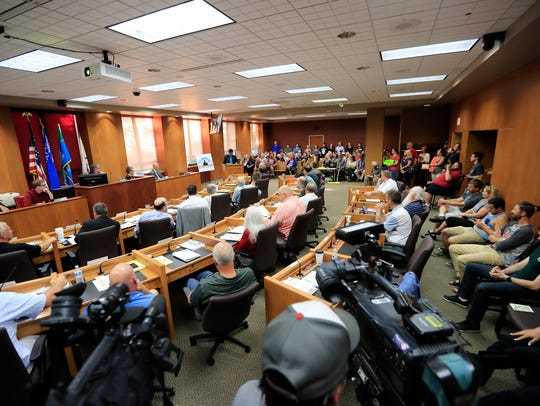 The Brown County board of supervisors listens to public