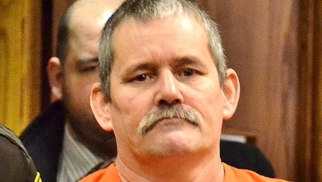 William Longsine enters Oconto County Circuit Court Friday for sentencing on methamphetamine charges.