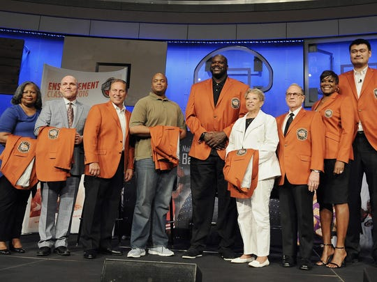 The 2016 class of inductees into the Basketball Hall