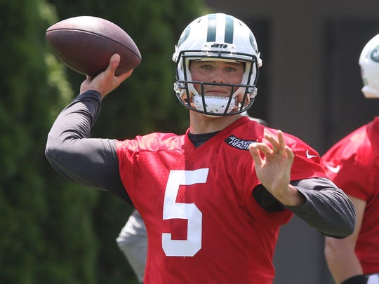 Quarterback Christian Hackenberg looking to throw the ball downfield.