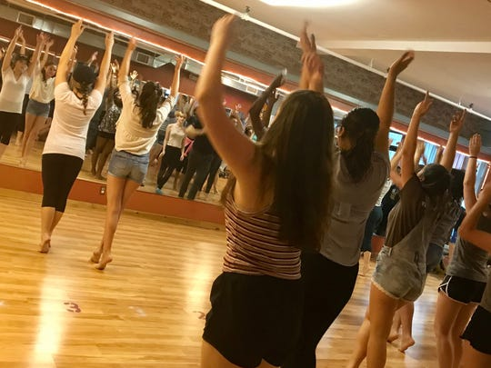 """Choreographing the Dream Ballet in """"West Side Story"""" at New Generation Theatre, which runs Aug. 2-5 at Fieldstone School in Thiells. There are productions of """"West Side Story"""" in White Plains and Thiells this summer."""