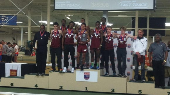 The Asheville High boys track team placed second at the NCHSAA 3-A indoor meet on Feb. 14 in Winstson-Salem.