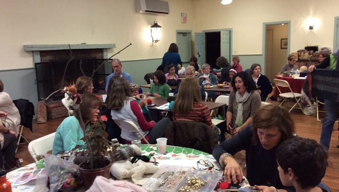 The 2014 knitathon in the Brookside section of Mendham raised more than $10,000 for BlinkNow, an organization that helps Nepalese women and children.