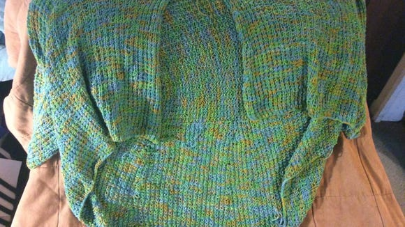 This is the green bamboo Kiama sweater I started last year and finished in May.