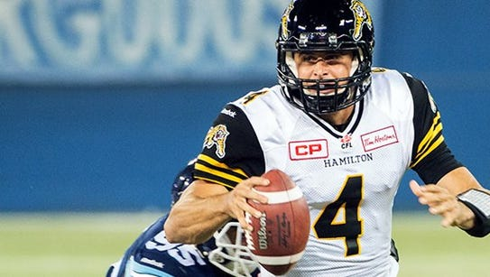 Zach Collaros was leading the CFL in passing when he