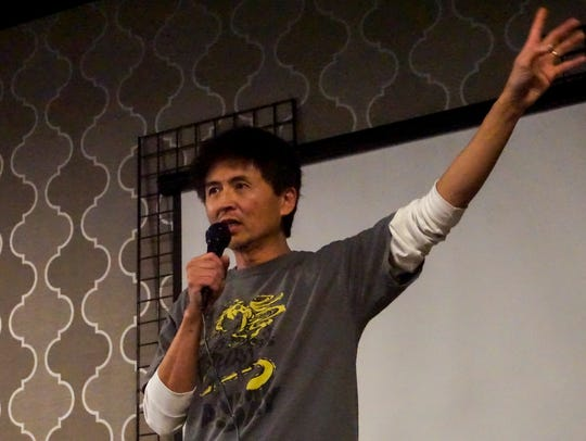 John Lo addresses the crowd at the Knoxville Anime