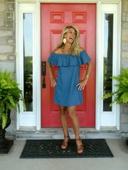 Stylemaker Melissa Goodlett poses in front of her Simpsonville home.