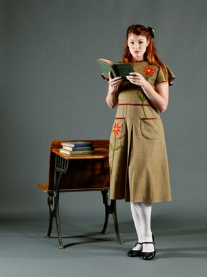 """Catherine Birdsong as Peggy in Nashville Children's Theatre's production of """"The Hundred Dresses."""""""