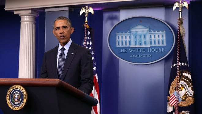 President Obama discusses the Orlando mass shooting at the White House on June 12, 2016.
