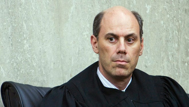 """This June 20, 2012, photo provided by ALM shows U.S. District Judge James """"Jeb"""" Boasberg in Washington, D.C. Boasberg is overseeing a lawsuit filed by the Standing Rock and Cheyenne River Sioux, two Dakotas tribes who maintain the $3.8 billion Dakota Access pipeline to carry North Dakota oil to Illinois threatens their drinking water and cultural sites."""