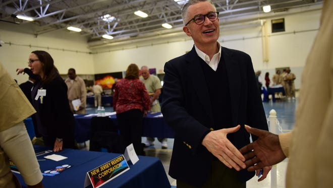Former Gov. Jim McGreevey, who runs the New Jersey Re-Entry Corporation, a non-profit advocacy group that helps inmates adjust to non-prison life, chatted with prisoners and offered encouragement.