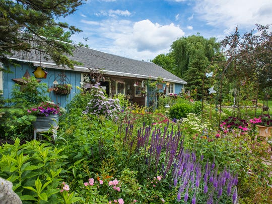 Pictured is the Giese garden. Proceeds of the Agnesian