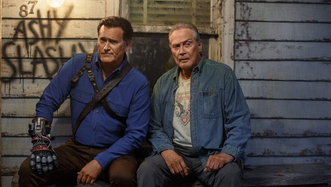 Ash Williams (Bruce Campbell) reconnects with his dad (Lee Majors) in the new season of 'Ash vs. Evil Dead.'