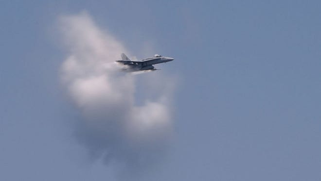 U.S. Navy officials say a jet made the sonic boom reported on Delmarva Wednesday, Oct. 5, 2016.