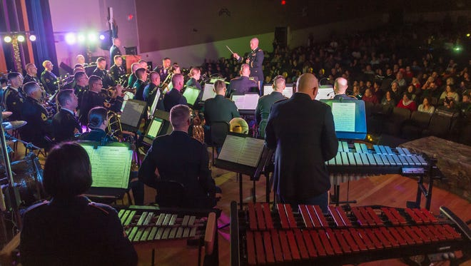 The 399th Army Band will perform a free holiday concert Friday night at the Gillioz Theatre in Springfield.