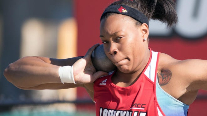 Emmonnie Henderson balances being a student with playing basketball and competing on the track and field team at Louisville.