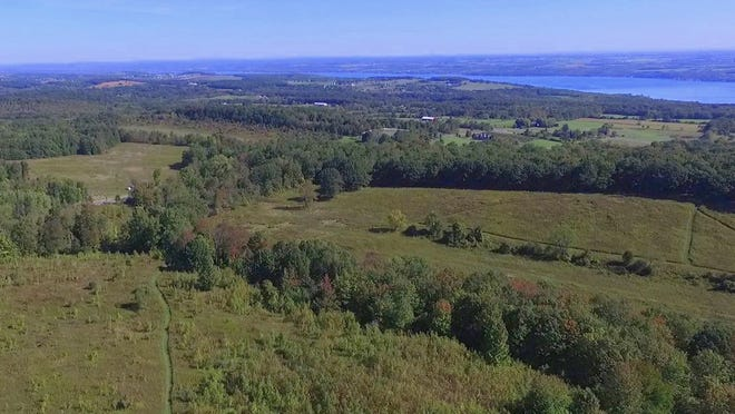 A view from above of the Canandaigua Vista property, to open next year as a public nature preserve off Route 21 and Jones Road in Canandaigua.