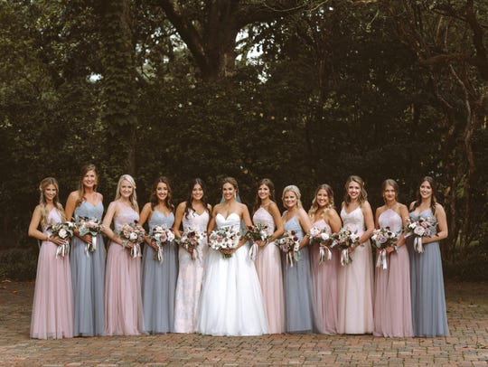 Erin and her bridesmaids on May 26th