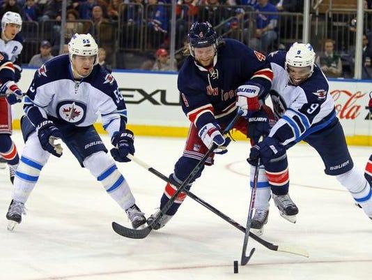 NHL: Winnipeg Jets at New York Rangers