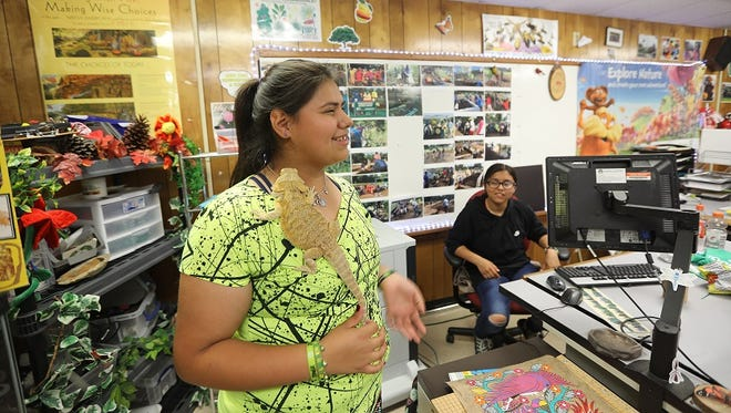 """A student at Furr High School co-leads """"genius hour,"""" where students have the opportunity to explore topics that interest them."""