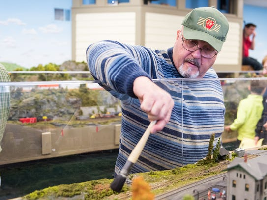 A member of the Patcong Valley Model Railroad Club