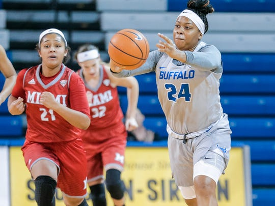UB junior guard Cierra Dillard, a 2014 Gates Chili graduate, was named a second-team All-MAC pick this season.