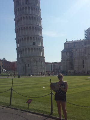 Courtney Neltner spent last summer visiting Italy, including a stop with her Community Recorder at the Leaning Tower of Pisa.