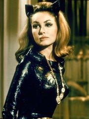 "Julie Newmar as Catwoman in the TV series ""Batman."""