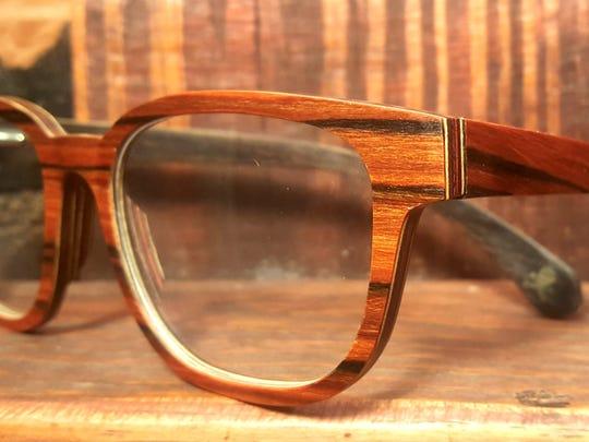 Rosewood veneer aluminum prescription lenses by ACD|WSH.